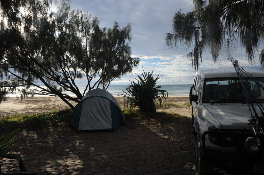 Beach side camping - Double Island Point, Qld
