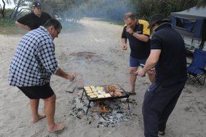 Hearty campfire breakfast