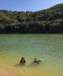 Swimming in Lake Wabby