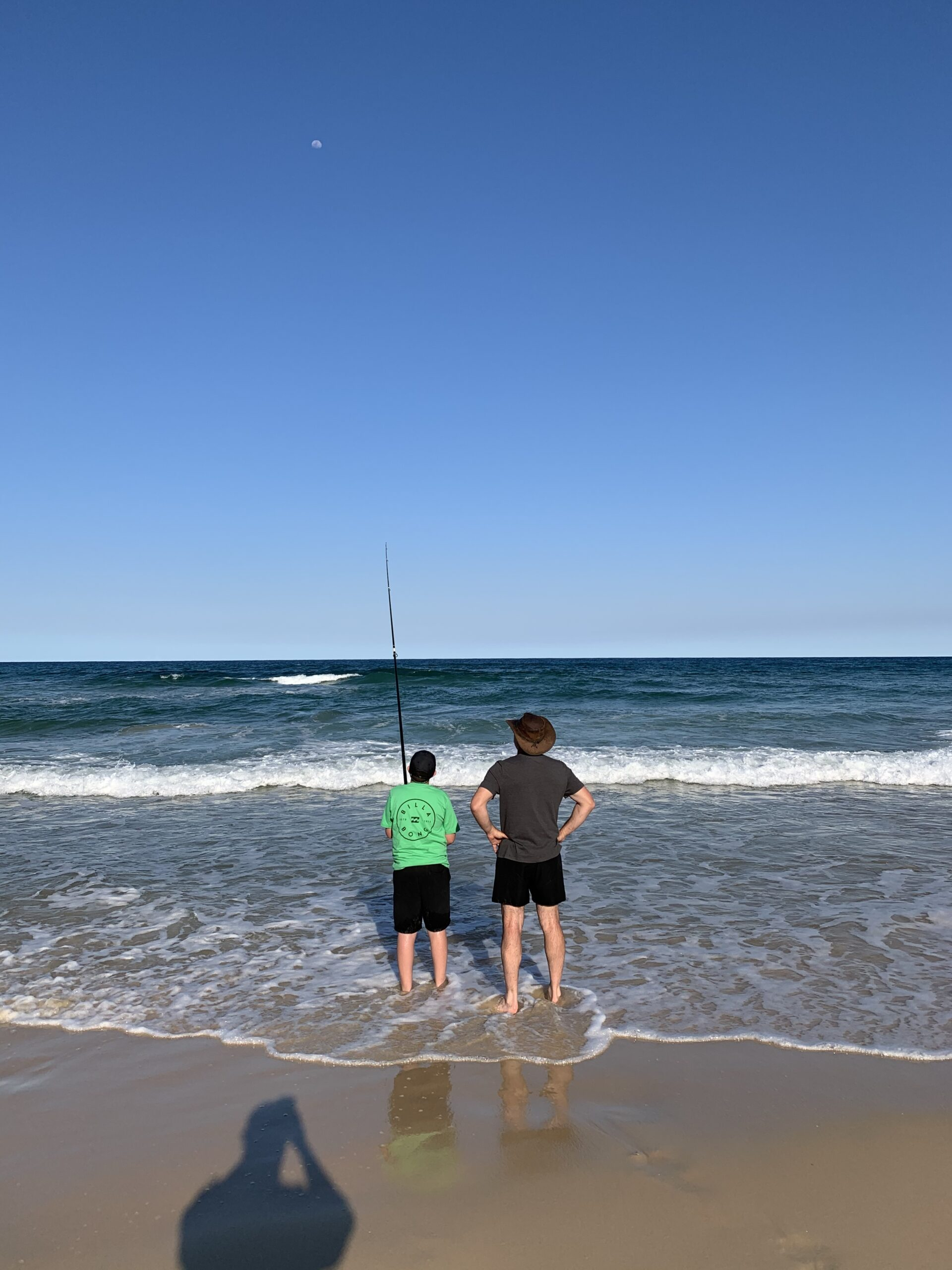 Perfect weather for kids to start surf fishing.