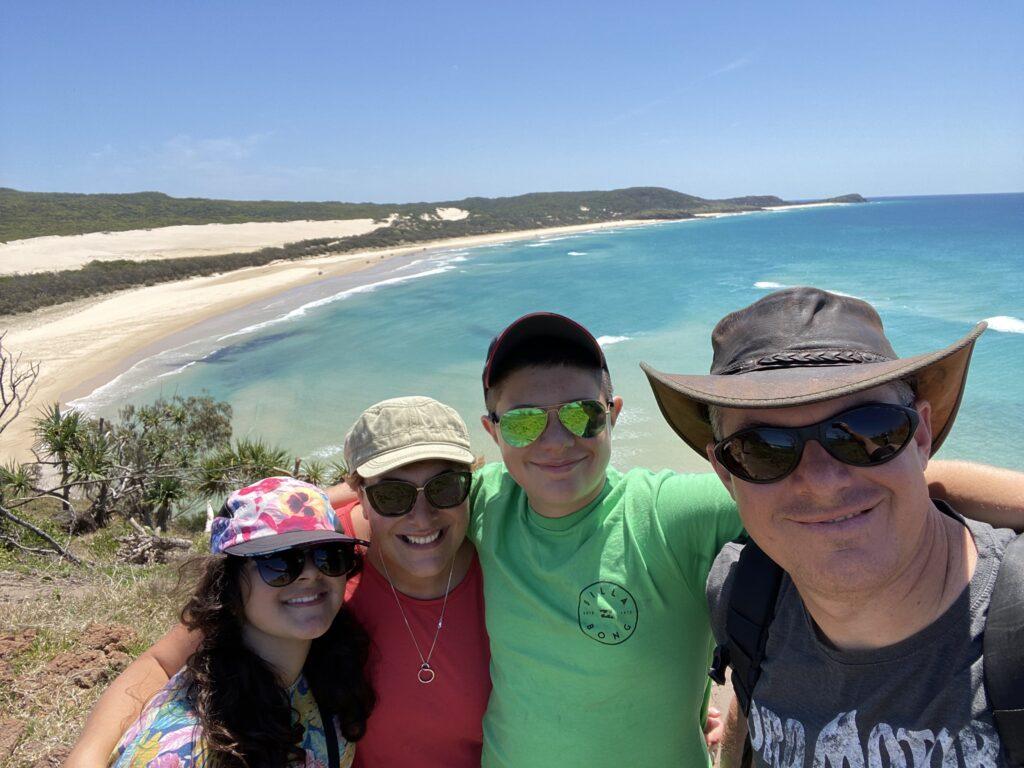 Family at Fraser Island