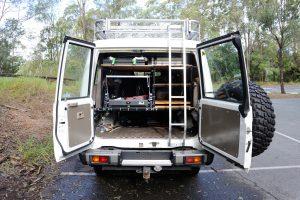 Ladder Access From Barn Doors