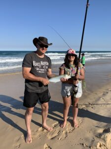 Kids love catching tailor in the surf